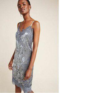 Anthropologie Tessie Velvet Mini Dress